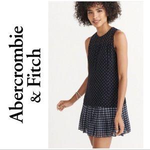 Abercrombie & Fitch Drop Waist Chiffon Dress
